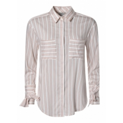 Dante 6 Palmer Blouse - Milk White Striped