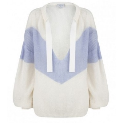 Dante 6 Phoebe Colourblock Sweater - Cool White