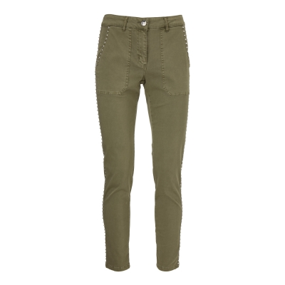 Gustav Stretch Pants Studs - Army Green
