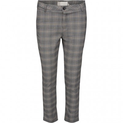 Minus Carma Checked Pants- Chequered Grey / SALE