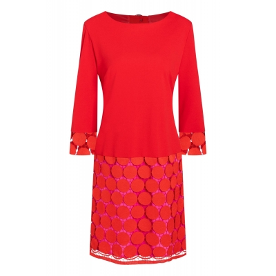 Ana Alcazar Dress Sakani - Red