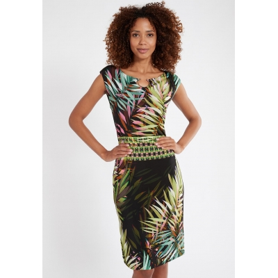 Ana Alcazar Dress Sermisa - Multicolor Jungleprint