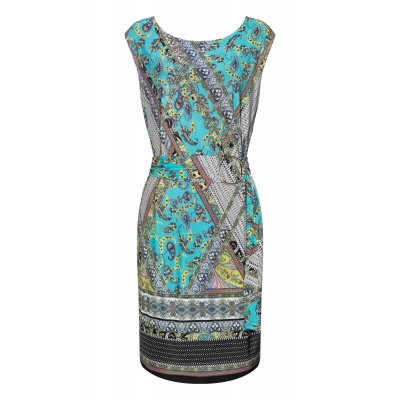 Ana Alcazar Dress Setrari - Blue Paisley