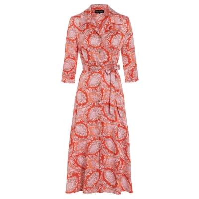 Ana Alcazar Dress Tefrole - Red Paisley