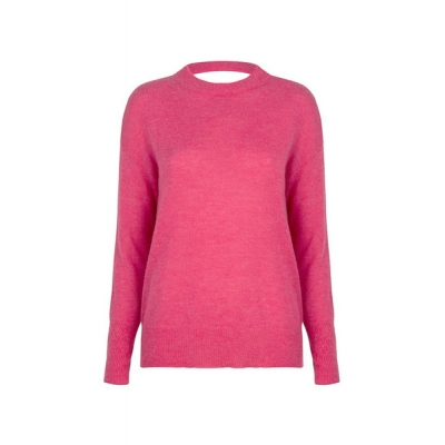 Dante 6 Echo Back Detail Sweater - Ultra Pink | SPRING SALE