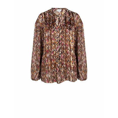 Dante 6 June Printed Chevron Blouse - multicolor | SPRING SALE