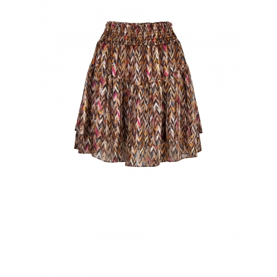 Dante 6 Wonderous Print Chevron Skirt - Multicolor | SOLD OUT