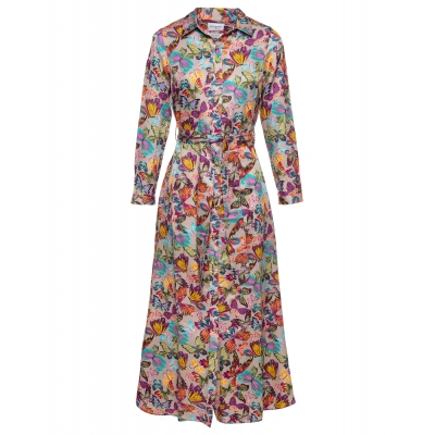 Est' Seven Long Dress Miss Butterfly Touch of Silk  - Butterfly  Print   SPECIAL OFFER