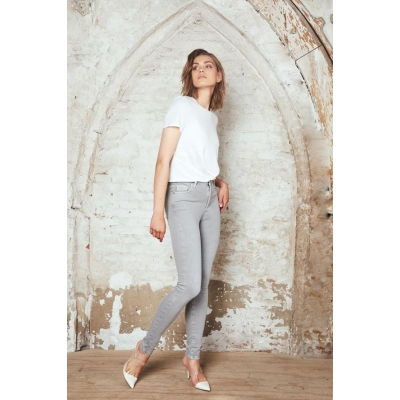 Homage Coloured Skinny Jeans - Light Grey