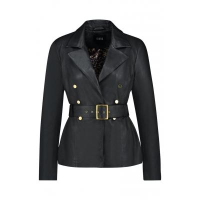 Ibana Leather Jacket Dune - Black / SALE