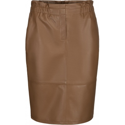 Minus Paia Leather Skirt - Walnut Brown / SALE