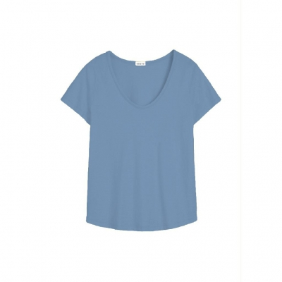 Neeve Tshirt The U-Neck - Denim Blue