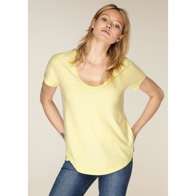Neeve Tshirt The U-Neck - Bright Yellow