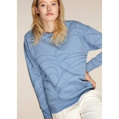 Neeve The Stitched Sweater - Denim Blue