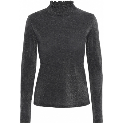 Continue CPH Alberte Mesh Top Long Sleeve - Black | SPRING OFFER
