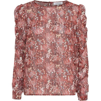 Continue CPH Lilly Blouse - Rust Flower  / SALE