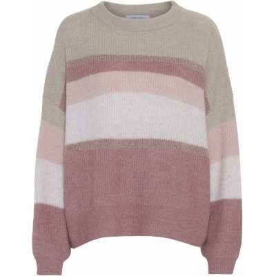 Continue CPH Sara Rose Knit Pullover - Rose Striped | SPRING OFFER
