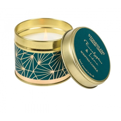 Stoneglow Candle Tin | Seasonal Collection - Eucalyptus & Lime | SPRING OFFER
