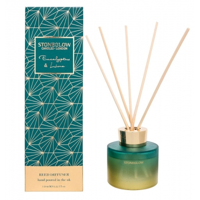 Stoneglow Reed Diffuser | Seasonal Collection - Eucalyptus & Lime | SPRING OFFER